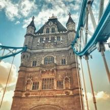 Tower Bridge up close.
