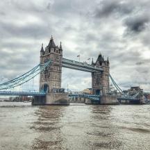 The Tower Bridge.
