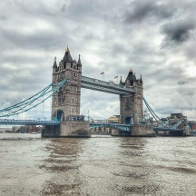 The Tower Bridge.